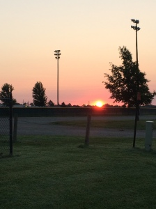 Sunrise over Wellsville Saddle Club Park 7-9-14